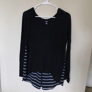 Black/ white striped top